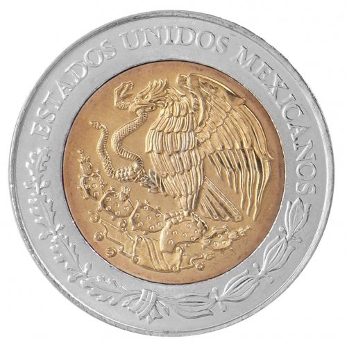 Mexico 5 Pesos Coin, 2008, KM # 896, Mint