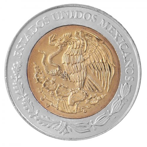 Mexico 5 Pesos Coin, 2008, KM # 897, Mint