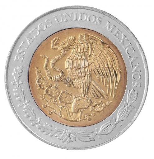 Mexico 5 Pesos Coin, 2008, KM # 898, Mint