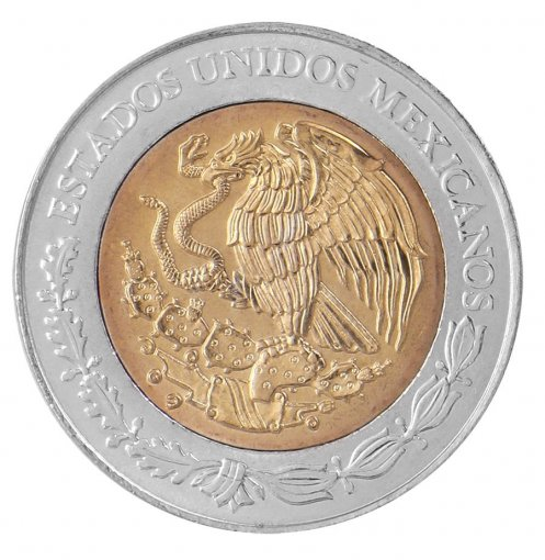 Mexico 5 Pesos Coin, 2008, KM # 901, Mint