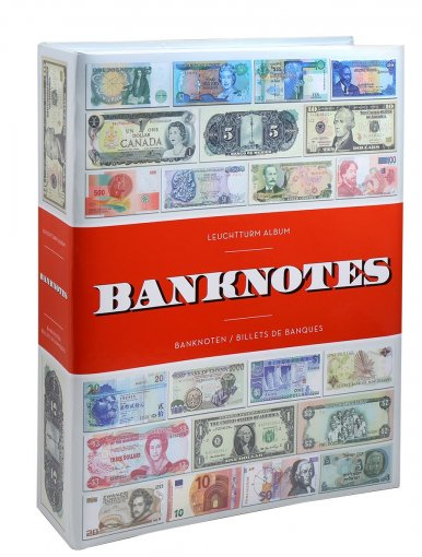 Banknote - Currency Album, Holds up to 300 Banknotes, Inbound Sleeves Included - Accessories