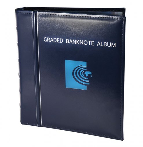 Banknote World Graded Banknote Album, Currency Collecting, 3 Ring, Blue - Accessories