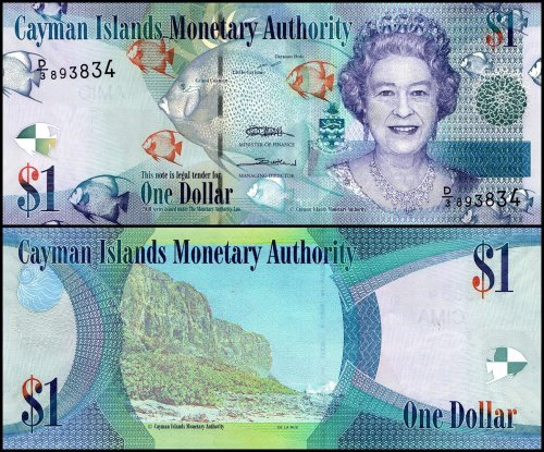 Cayman Islands 1 Dollar Banknote, 2011, P-38c, UNC
