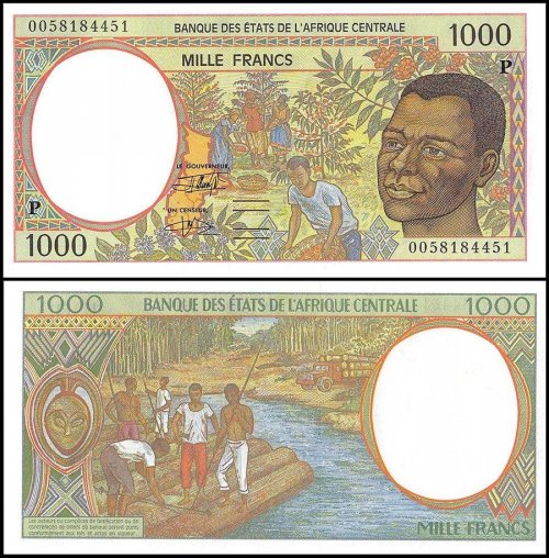 Central African States - Chad 1,000 Francs Banknote, 2000, P-602Pg, UNC