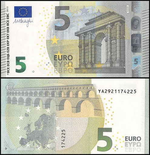 European Union - Greece 5 Euro Banknote, 2013, P-20y, UNC