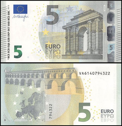 European Union - Spain 5 Euros Banknote, 2013, P-20v, UNC