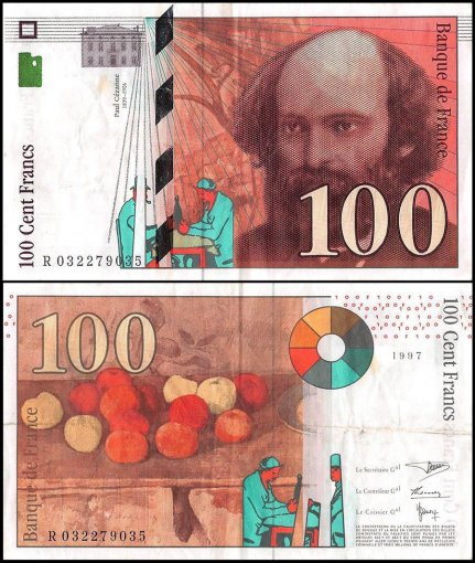 France 100 Francs Banknote, 1997, P-158, Used