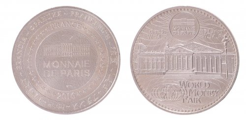France Tourist Token 17.5g Cu-Aluminium-Nickel Coin, 2016, World Money Fair, Mint
