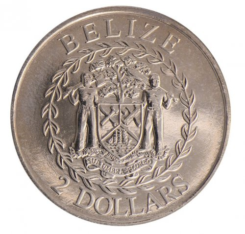 Belize $2 Dollars, Copper Nickle Coin, 2011, KM # 37, Mint, Folder