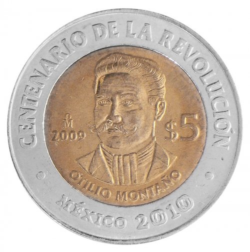 Mexico 5 Pesos Coin, 2009, KM # 917, Mint