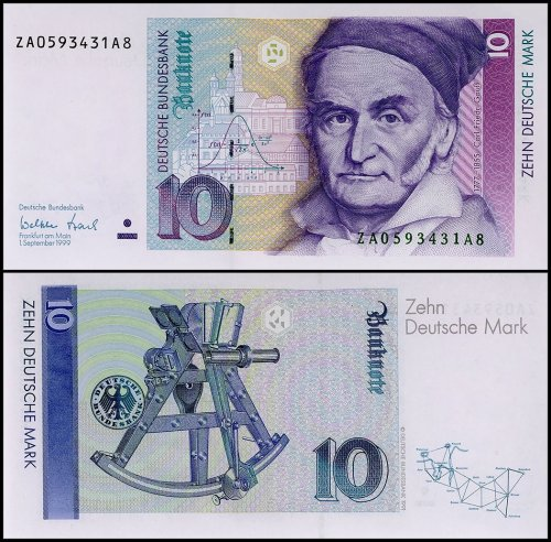 Germany 10 Deutsche Mark Banknote, 1999, P-38d, REPLACEMENT, UNC