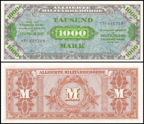 Germany 10 Mark Banknote, 1944, P-198b, UNC
