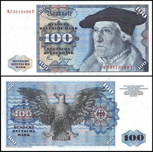 Germany 100 Deutsche Mark Banknote, 1980, P-34d, UNC