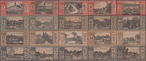 Germany 50 Pfennig Notgeld 20 Piece Set, 1921, UNC