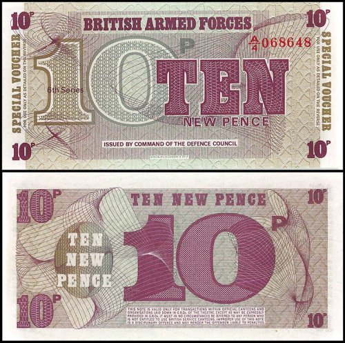 Great Britain 10 New Pence Banknote, 1972, P-M48, UNC, 6th Series, Special Voucher