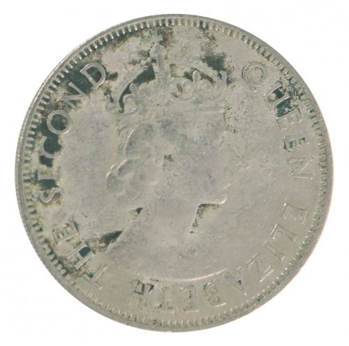 Fiji 1 Florin 11.2 g Copper Nickel Coin, 1957, KM #24, F - Fine