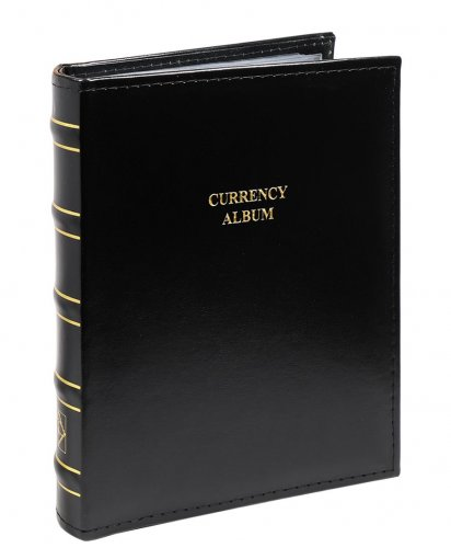 Large Ring Binder for Currency - Banknotes, 20 Removable Sleeves Included - Accessories