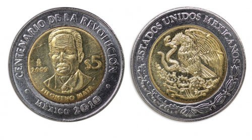 Mexico 5 Pesos Coin, 2009, KM # 907, Mint, Centenary of Revolution, Filomeno Mata