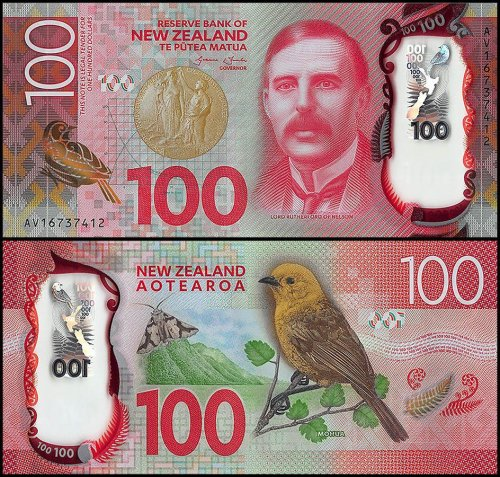 New Zealand 100 Dollars Banknote, 2016, P-195, UNC, Polymer