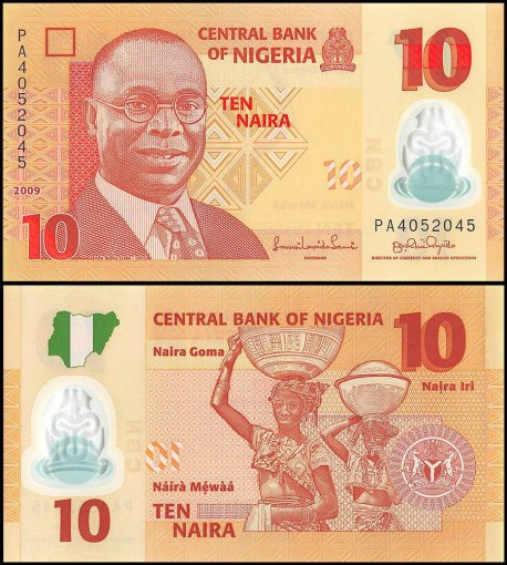 Nigeria 10 Naira Banknote, 2009, P-39a, UNC, Polymer