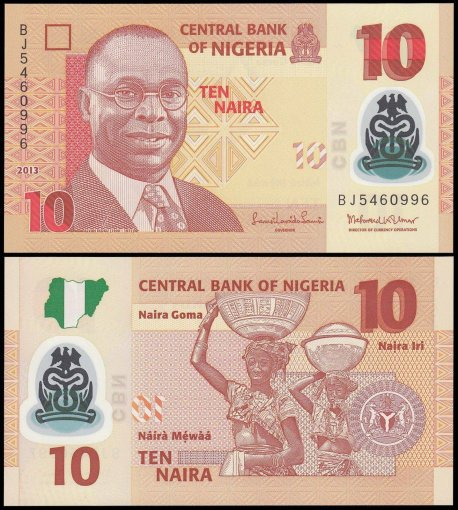 Nigeria 10 Naira Banknote, 2013, P-39d, UNC, Polymer