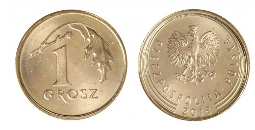 Poland 1 Grosz 1.64 g Brass Plated Steel Coin, 2018, Y # 923, Mint