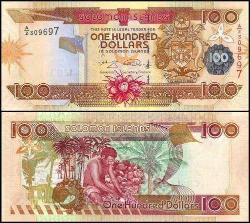 Solomon Islands 100 Dollars Banknote, 2009, P-30, UNC