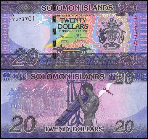 Solomon Islands 20 Dollars Banknote, 2017, P-34, UNC