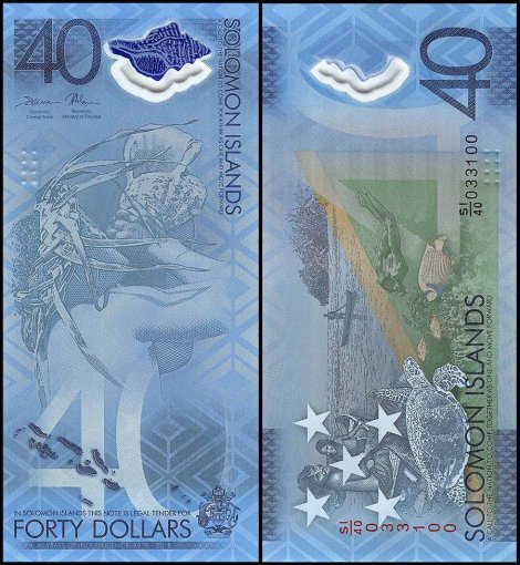 Solomon Islands 40 Dollars Banknote, 2018, P-New, UNC