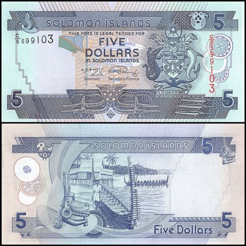 Solomon Islands 5 Dollars Banknote, 2006, P-26, UNC