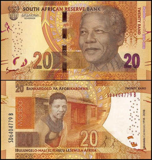 South Africa 20 Rand Banknote, 2018, P-New, UNC