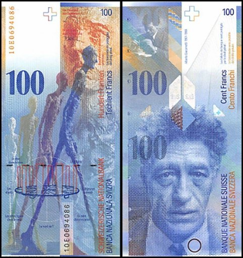 Switzerland 100 Francs Banknote, 2010, P-72i, UNC