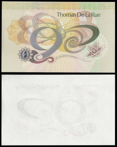United Kingdom Large Trial Test Banknote, P-231b, UNC