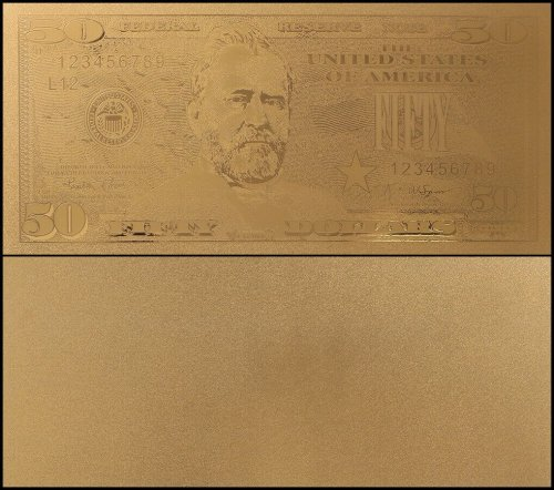 United States of America - USA 50 Dollars, Novelty / Fantasy Gold, President Ulysess S. Grant