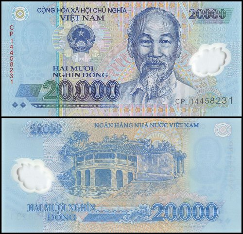 Vietnam 20,000 Dong Banknote, 2014, P-120f, Polymer, UNC