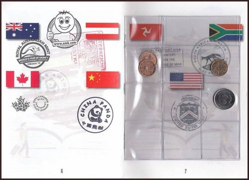 World Mints Passport Booklet, Chicago ANA Show, Mixed Coin, 2015, Mint