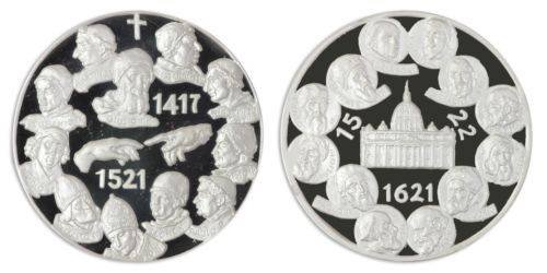 Popes - Pope in History 100 g Silver Proof Medals 7 Pieces Coin Set, SN # 0193, Mint