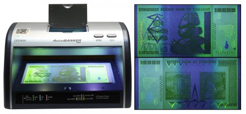 AccuBANKER Counterfeit Currency & Money Detector, 10,50,100 Trillions Zimbabwe