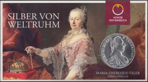 Austria Maria Theresa Taler Official Re-strike Coin with Folder, 1780