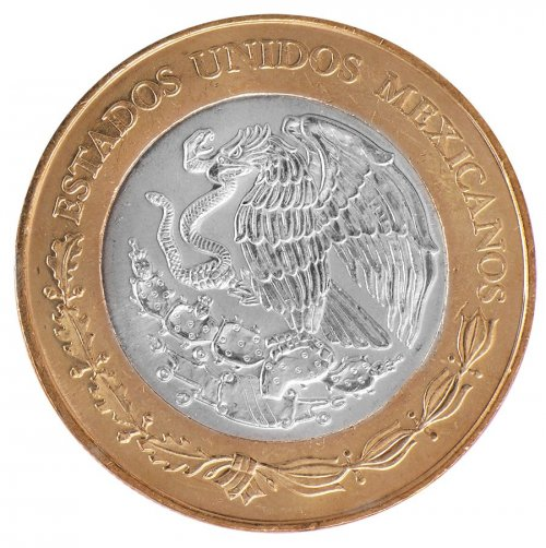 Mexico 20 Pesos 16g Bi-Metallic Coin, 2010, KM # 943, Mint