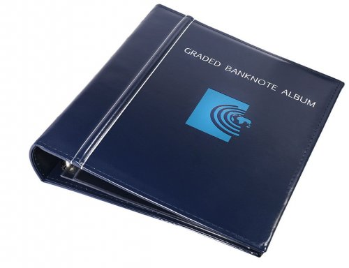 Banknote World Graded Banknote Album, Currency Collecting, 3 Ring, Blue