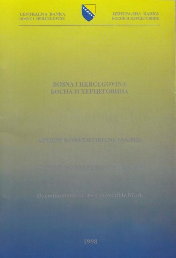 Bosnia and Herzegovina 1-100 Convertible Maraka Specimen Presentation Pack, 1998