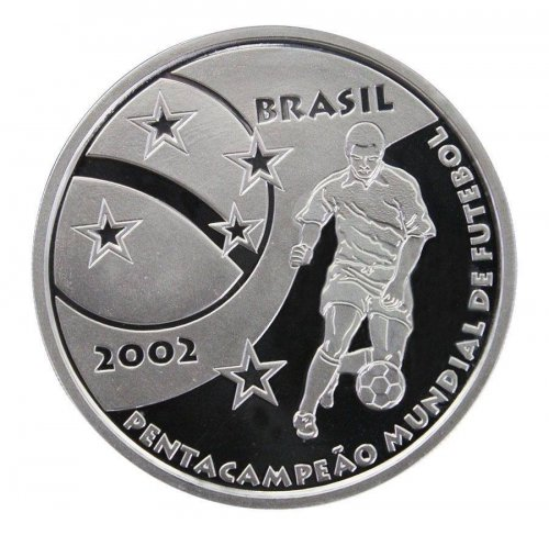 Brazil 5 Reais, Silver Proof Coin, 2002, Mint, KM # 661, The Glory of the Nation