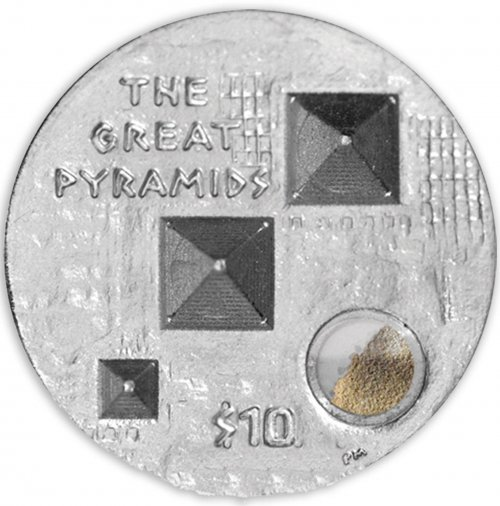 British Virgin Island $10 Silver Coin, 2013,Mint,Great Pyramids Giza Proof,QE II