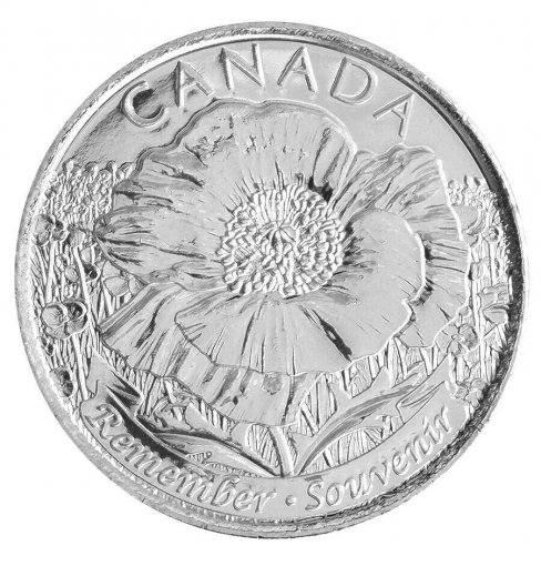 Canada 25 Cents 4.4 g Nickel Plated Steel Coin, 2015,KM # 1852.1,Mint,Flower, QE