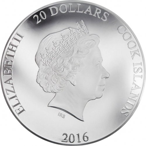 Cook Islands 20 Dollar,3 Oz Silver Proof Coin,2016,Queen Elizabeth II 90th B-day