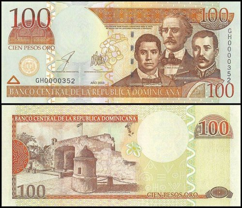 Dominican Republic 10-2,000(2002)Pesos Oro 6 PCS Full Set, 2003,P-168c-174b,UNC