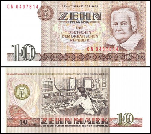 East Germany 5 - 100 Mark 5 Pieces(PCS)Full Set, 1971-1975, P-27a-31a, UNC