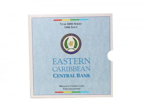 Eastern Caribbean 1 Cent - 1 Dollar 6 Pieces Coin Set, 2000, Mint, Bays, QEII