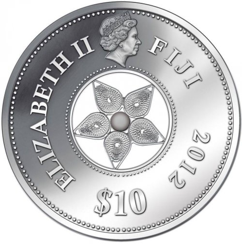 Fiji $10, 0.59 Troy oz. Silver Coin, 2012, KM # 199,  Mint, Jewel Filigree